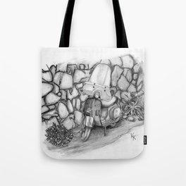 Italy-Vintage Vespa Tote Bag
