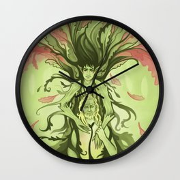 The Red Oak Wall Clock