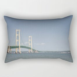 mackinac bridge Rectangular Pillow