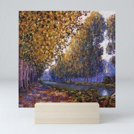Paris, Moret Canal Autumn Foliage, French landscape by Francis Picabia Mini Art Print