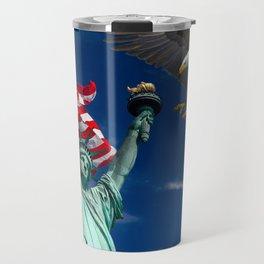 Bald Eagle a Lady Liberty Travel Mug