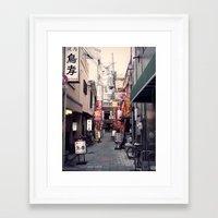 kobe Framed Art Prints featuring Kobe Roji by Dora