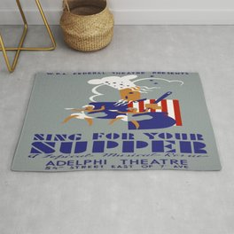 Vintage poster - Sing For Your Supper Rug