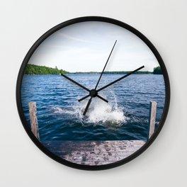 Lake Splash Wall Clock