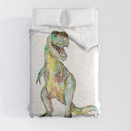 T-rex dinosaur painting watercolour  Comforters