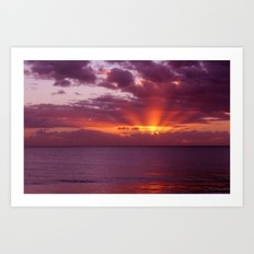 Let the new day lift your spirits to the sky Art Print