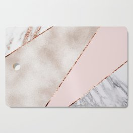Spliced mixed rose gold marble Cutting Board