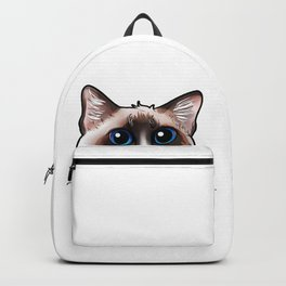 Ragdoll Cat Face Cats funny cute sweet Kitty gift Backpack