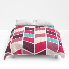 RED 'N' BLUE RETRO HERRINGBONE PATTERN Comforters