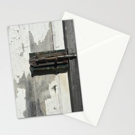 Vintage Latch on Weathered Wood Stationery Cards