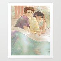 klaine Art Prints featuring klaine cuddles by suitfer