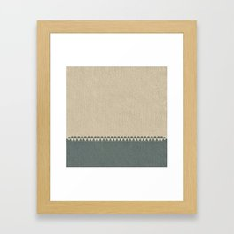 Texture Taupe and Grey Green Pattern Framed Art Print