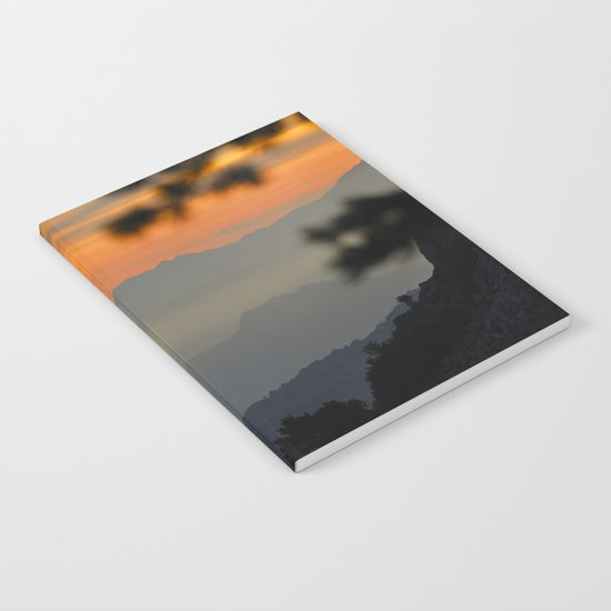 """Sunset at the mountains II"" Notebook"