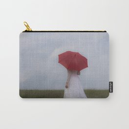 Bride with red umbrella Carry-All Pouch