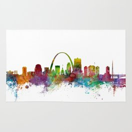 St Louis Missouri Skyline Rug