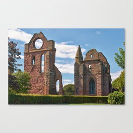 Arbroath Abbey in Summer Sunshine Canvas Print