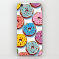 donuts iPhone & iPod Skins featuring Donuts by Helene Michau