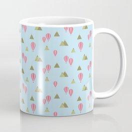 Air Balloon Mountains - Pink and Blue Coffee Mug