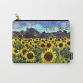 Sunflower Fields Of Summer Van Goth Carry-All Pouch