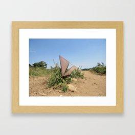 Paper Airplane Mountain Framed Art Print