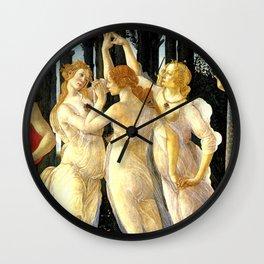 Sandro Botticelli Primavera The Three Graces Wall Clock