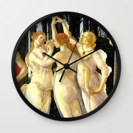Sandro Botticelli Primavera The Three Graces Wall Clock