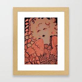 neon blonde flapper Framed Art Print