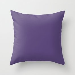 Now IMERIAL PALACE deep purple solid color Throw Pillow