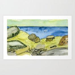 Flow - Modern Watercolor Nature Landscape Art Print