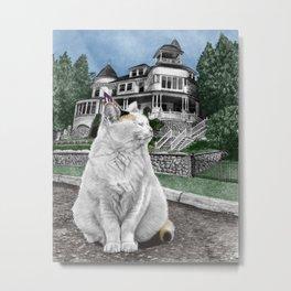 Mackinac Island Cat Metal Print