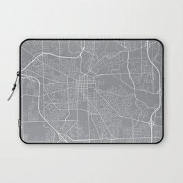 Ann Arbor Map, Michigan USA - Pewter Laptop Sleeve