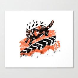 Runnin'. Canvas Print