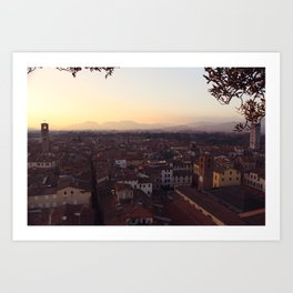Lucca Sunsets Art Print