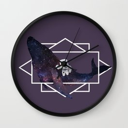 universe in whale Wall Clock