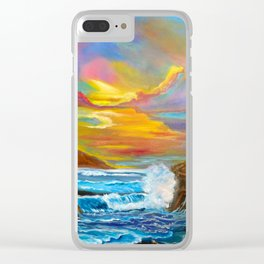 Tropical Shores Clear iPhone Case