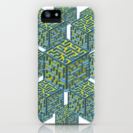Cubed Mazes iPhone Case