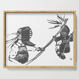 Naginata Sumi-E by Takemi Serving Tray