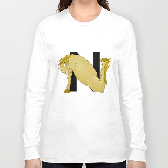 Pony Monogram Letter N Long Sleeve T-shirt