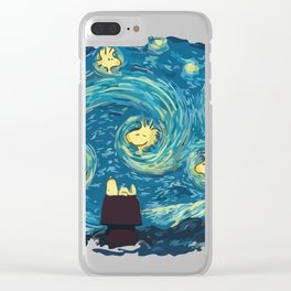 woody night Clear iPhone Case