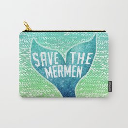 Save the Mermen - in Blue and Green Carry-All Pouch