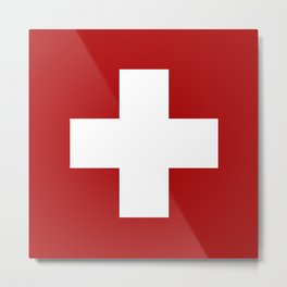 Swiss Cross Metal Print