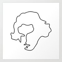 beethoven Art Prints featuring Beethoven by Panic Junkie