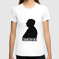 hitchcock T-shirts featuring Alfred Hitchcock by Silvio Ledbetter