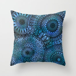 Shifting Currents - LaurensColour Throw Pillow