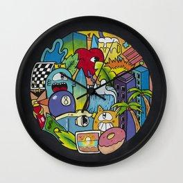 Street Art Graffiti Wall Wall Clock