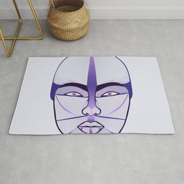 purple geisha Rug