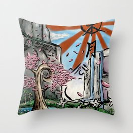 Japan: The Land of Games Throw Pillow
