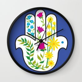 Hamsa Dove Wall Clock
