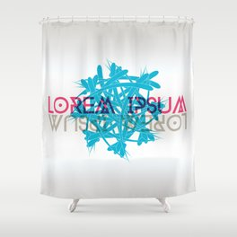 Abstract shape with lorem ipsum Shower Curtain