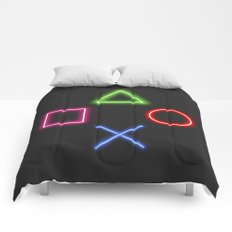 Neon Buttons Comforters